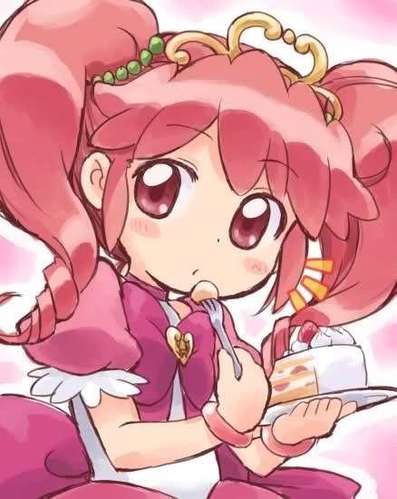 Princesse Fine mangeant un gâteau - Fugiboshi no Futago hime