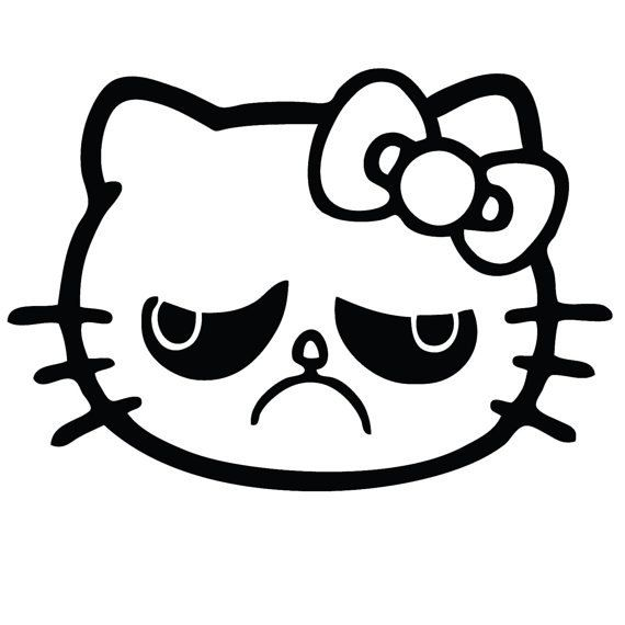 Grumpy Cat Hello Kitty Gloss Vinyl Window Car by ...
