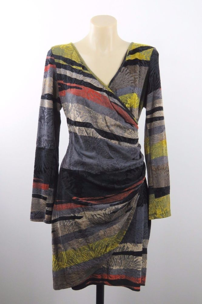 Size M 12 Sao Paulo Ladies Wrap Dress Tunic Boho Chic Corporate Cocktail Design #SaoPaulo #WrapDress #WeartoWork