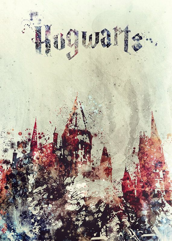 Harry Potter Poster Hogwarts Schloss Hogwarts von IdaShopBoutique