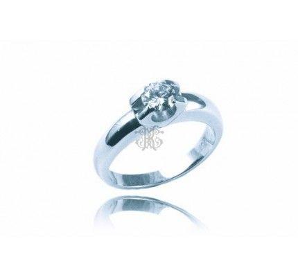 Δαχτυλίδι μονόπετρο λευκόχρυσο με διαμάντια #ring #whitegold #diamond #woman #wedding #proposal #love