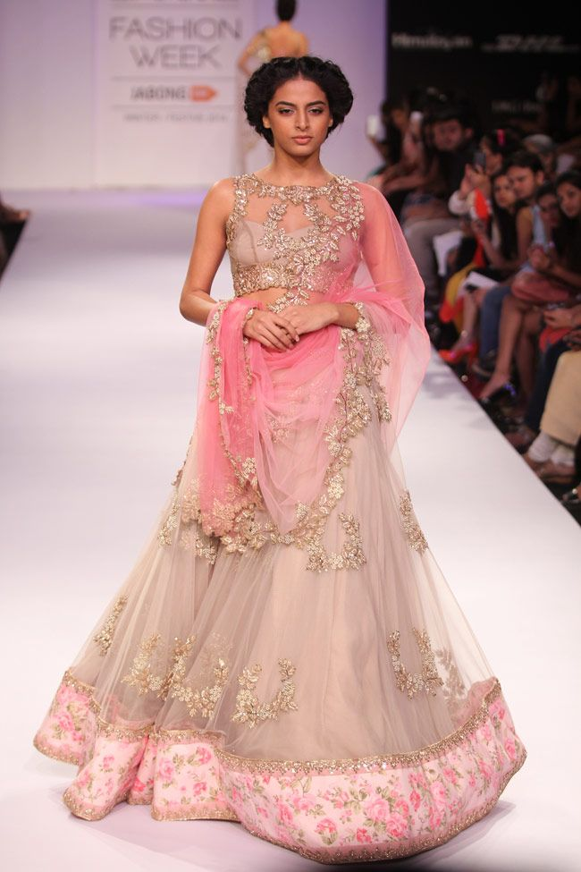 A model walks the ramp for Anushree Reddy on Day 5 at the Lakme Fashion Week Winter/Festive 2014. #Fashion #Style #Beauty
