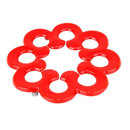 Cast Iron Red Round Trivet