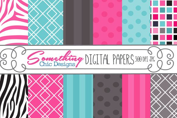 ADORE these papers- Check out Pink Zebra Whimsy Digital Background by Information_Mom on Creative Market