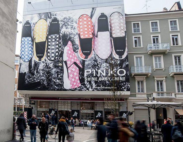 PINKO Shine Baby Shine sneakers - Spring Summer 2016 collection - at Largo La Foppa in Milan
