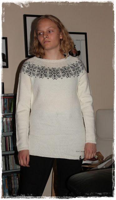 Hjerte GO`H Design: Dame genser rundfelling