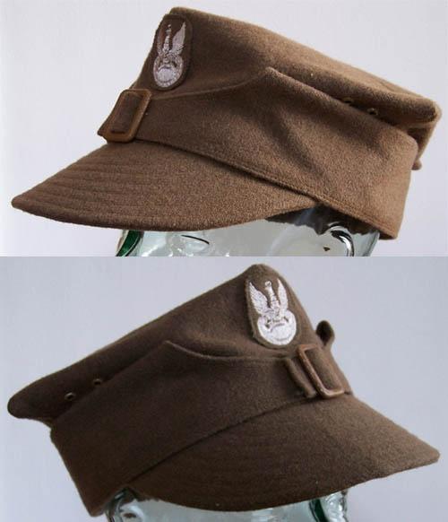 World War II Polish army rogatywka field cap