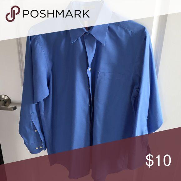 Geoffrey Beene Long Sleeve Dress Shirt 100% Cotton, size 16 - 32/33 Geoffrey Beene Shirts Dress Shirts