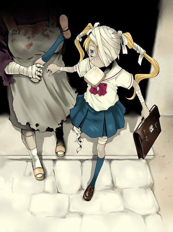 Anime Zombie Girl En 2019 Sketch Book Anime Zombie Anime Et