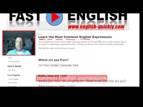 Common English Expressions and Learn How a Native Speaker Speaks Them