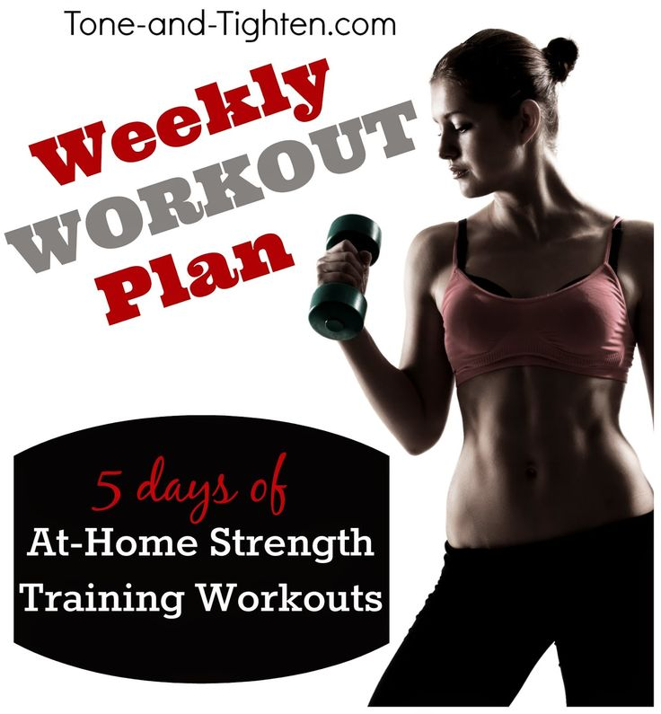 Weekly Workout Plan – At Home Strength Training – Fitness Plan