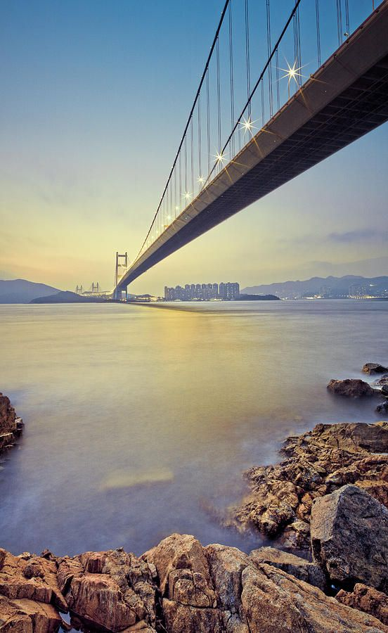 Tsing Ma Bridge (Built In 1997, 2,160m In Length, Hong Kong)