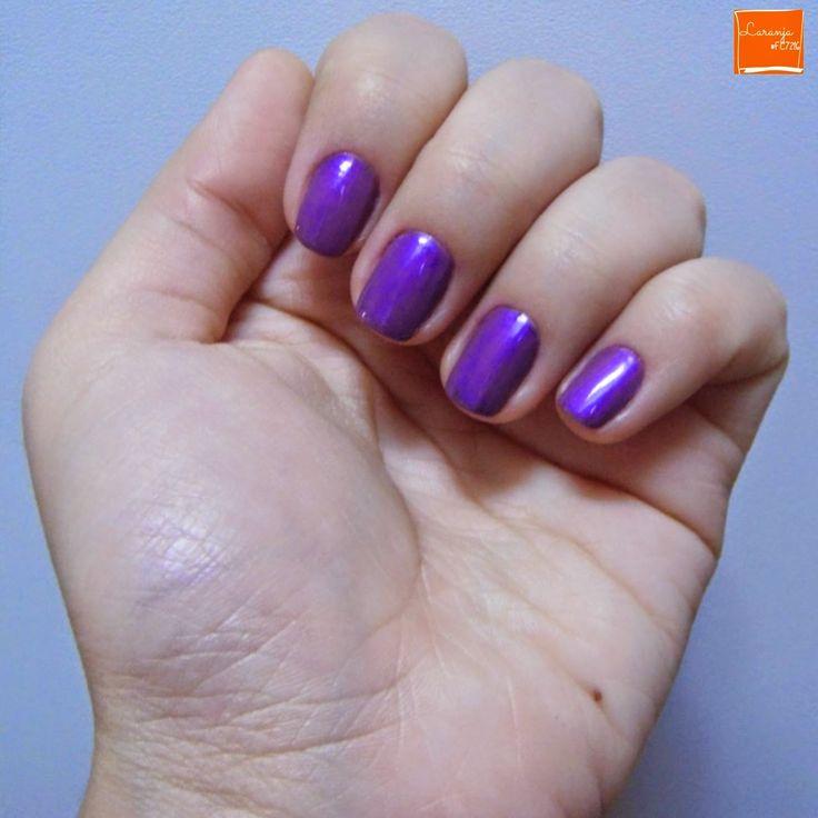 Esmalte da Semana   Misturinha Roxaço (Quem disse, Berenice?) e Lilac Cream (O Boticário)   Nail Polish   Perspectiva Laranja