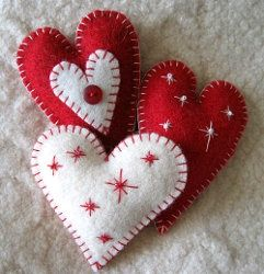 A decorative bowl full of these for Valentines decor would be cute