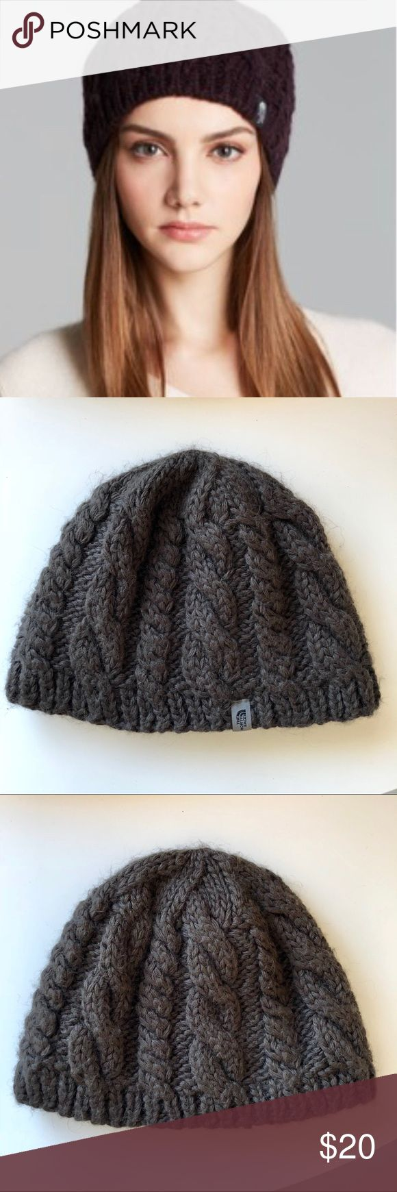 The North Face Cable Fish Wool Beanie Hat Brown Perfect condition, I bought this and never wore it. Brunette Brown.  This attractive, wool-blend, beanie is ideal for cold days on or off the mountain. Interior micro-fleece ear band provides added warmth where you need it most.  PRODUCT SPECIFICATIONS lining: micro-fleece earband shell: wool blend—50% wool, 40% acrylic, 10% alpaca The North Face Accessories Hats