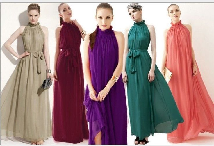 Retro Women's Sleeveless Chiffon Bohenmia Sexy Party Long Dress Elegant Vintage #100New #Dress #Cocktail