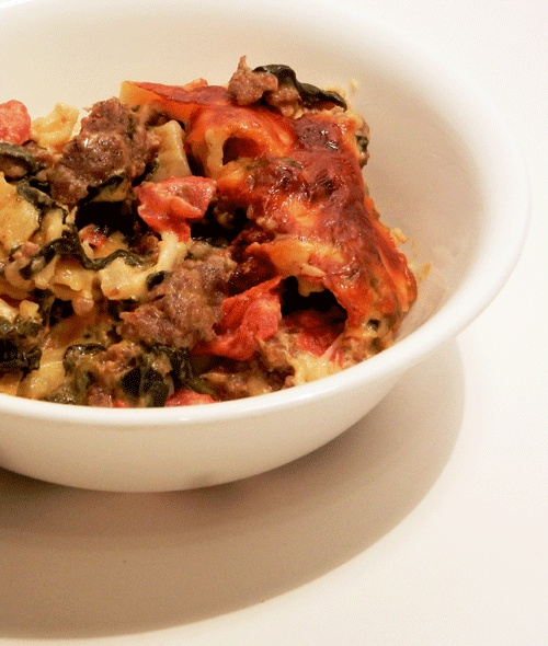 Sausage and Spinach Pasta Bake | Finished projects | Pinterest