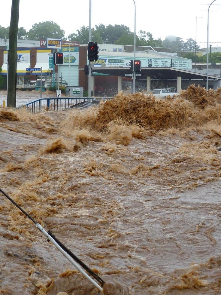 STREETS OF TOOWOOMBA FLOOD