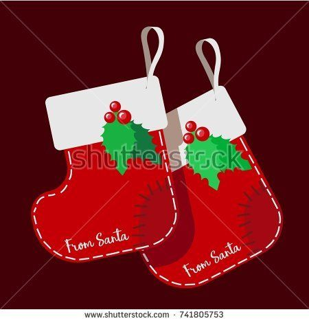 Boots for gifts. Christmas stockings