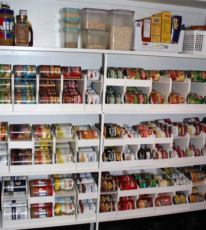 157 best food pantry ideas images on pinterest for Best pantry shelving system