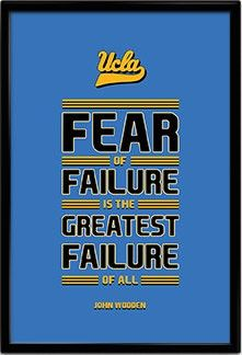Ucla bruins vs washington huskies football free live stream, score, odds, time, tv channel, how to watch online (10/16/21) washington will be gunning for a big upset when they take on chip kelly. John Wooden UCLA Bruins Inspirational Fear Quote Poster