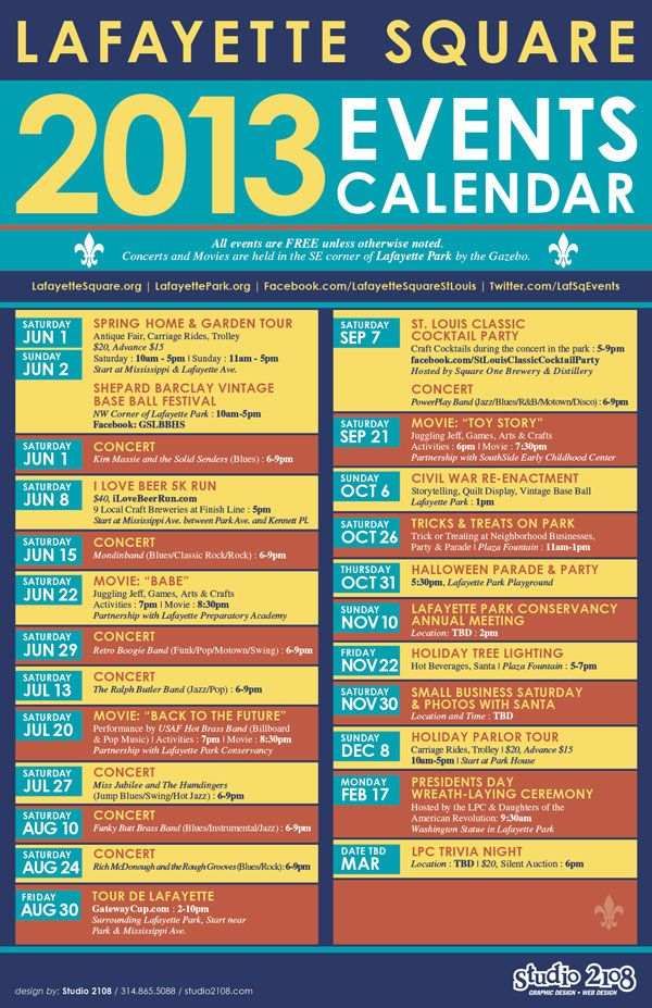 Lafayette Square Events Calendar