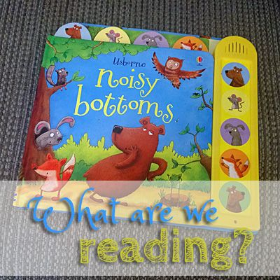Read my review of Noisy Bottoms: a fun board book with great illustrations and sound effects that make the baby and adults giggle.