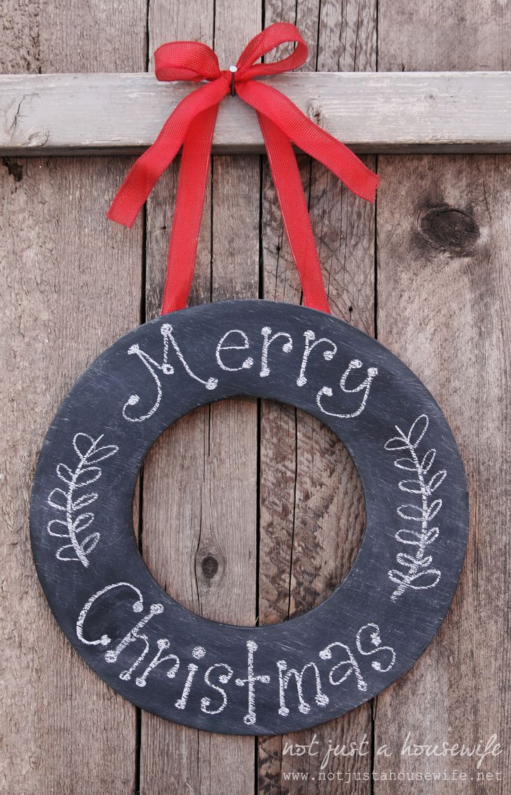 Chalkboard Wreath | Not JUST A Housewife