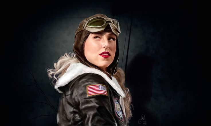 ArtStation - Devoted to the Sky, planes and beautiful lasses 2, Vladimir Mineev