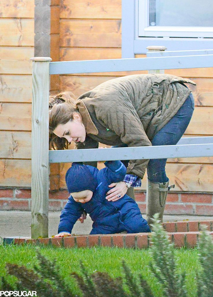 Kate Middleton and Prince George at the Petting Zoo Might Be the Cutest Thing You've Ever Seen