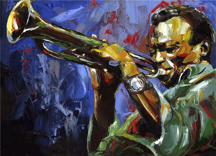 Jazz Miles Davis Original Painting Oil By Victor Bauer
