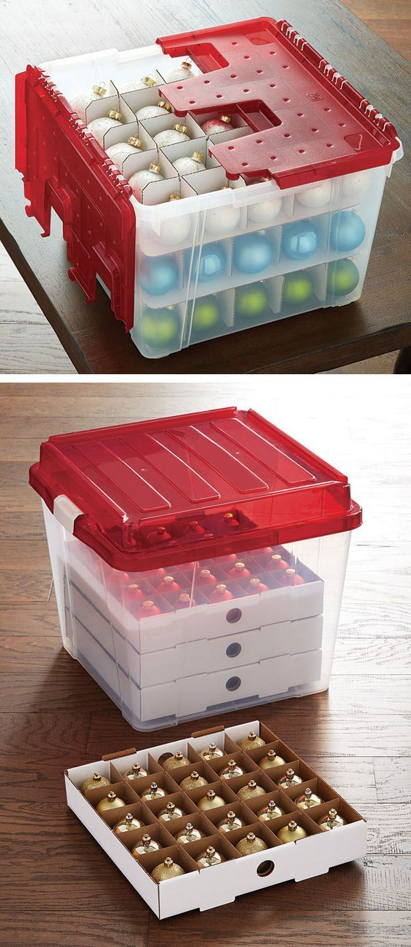 Broken baubles, be gone! From our Wing-Lid Ornament Storage Box to our Corrugated Ornament Storage Trays and Clear Storage Boxes with Lids, we've got lots of ways to store and protect all of your favorite ornaments.