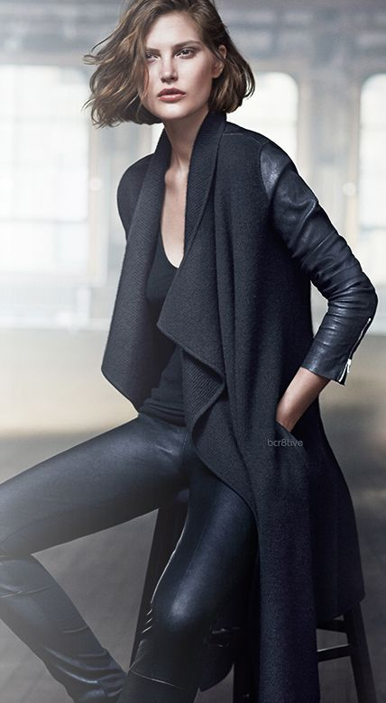 find this sweater for the LEATHER leggings Donna Karan Jackets & Outerwear