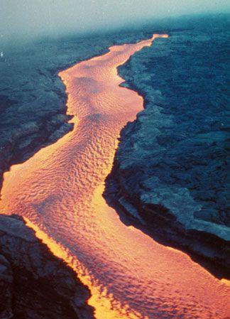 Mauna Loa Lava River
