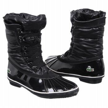 """Lacoste Women's Janya Boot Lacoste. $127.20. Shaft measures approximately 9"""" from arch. nylon. Boot opening measures approximately 13"""" around. Heel measures approximately 1/2"""". Rubber sole"""