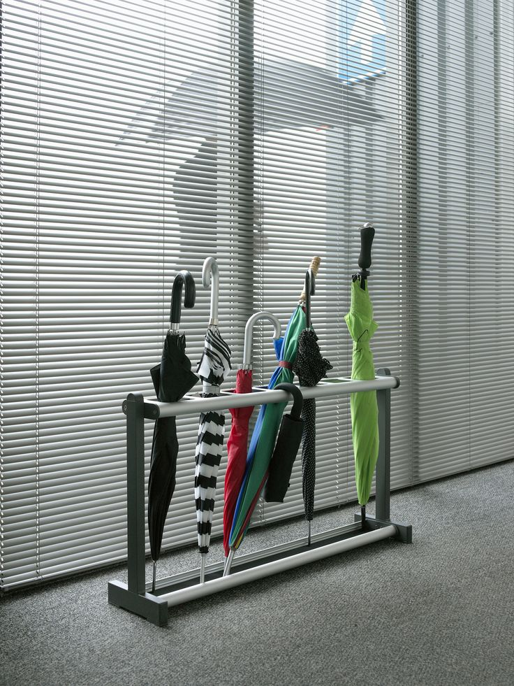 Tertio is the answer to attractively designed cloakroom systems for project design. The open, friendly design of umbrella stand Tertio P fits in perfectly with the other models in this series created by designer Gerard Kerklaan. Available in two sizes. http://www.van-esch.com/en/products/umbrella-stand/tertio-p