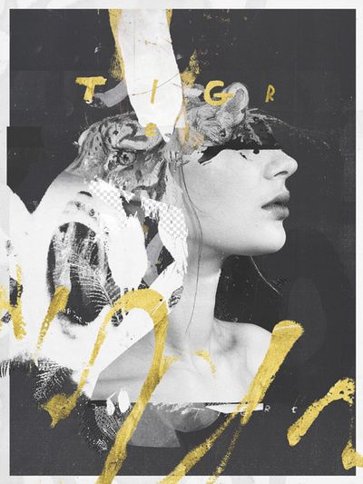 Raphael Vicenzi, collage, fashion, design in Collage
