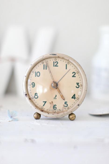 {dreamy whites} french traveling alarm clock