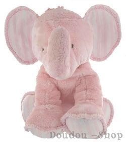 Peluche Elephant rose Tartine et Chocolat chez doudou-Shop.com  Je vois des éléphants roses :D  #teddy #nounours #doudou
