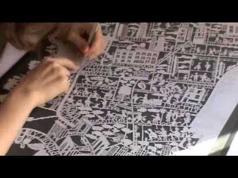 Best Papercutting Images On Pinterest Crafts Drawing And - Artist creates ridiculously detailed paper cuts of city maps