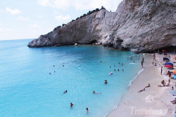 Porto Katsiki beach in Lefkada