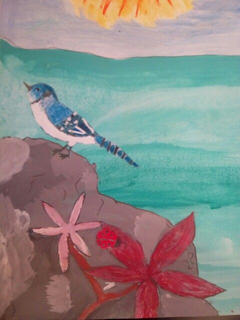 A blu jay and its life