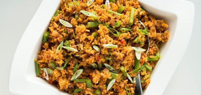 Casserole de riz au boeuf et aux tomates Recettes | Ricardo