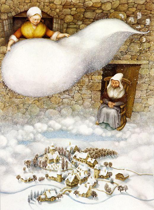 Фрау Холле (Иллюстратор) - Гримм Фотографии вики
