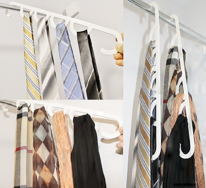 More unique gift ideas from LiftNFind. This is a great simple Tie Hanger and Scarf Hanger. Put 3-4 in each loop!