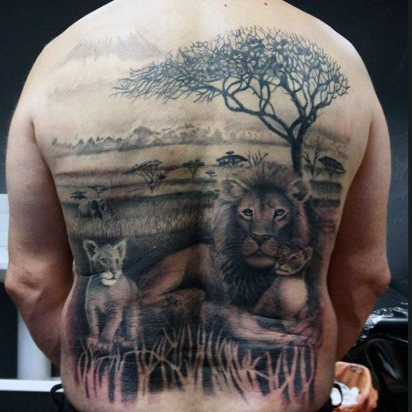 1000 ideas about lion back tattoo on pinterest small for Lion and cub tattoo