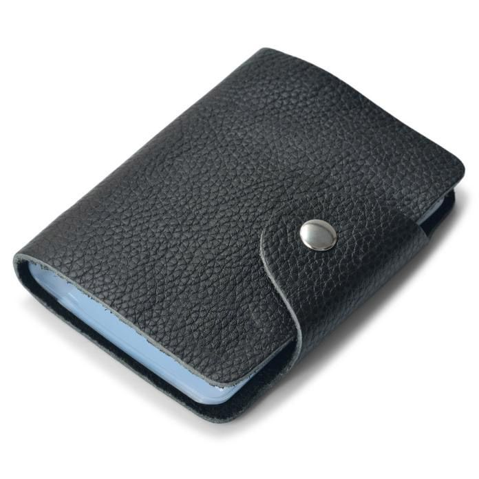 Xiniu Men Wallet Card  Fashion Business Credit ID Leather Card Holder Strap Buckle Bank Wizytownik Pokemon Kaarten #240 #Affiliate