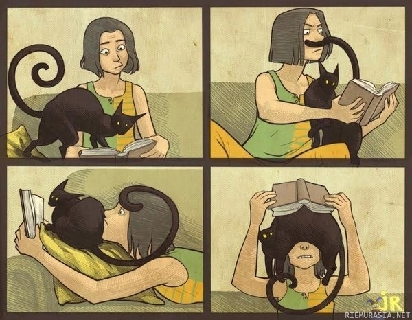 Yep, this is why I don't get much reading time :-): Cats, Books, Reading, Animals, Stuff, Funny, So True, Crazy Cat, Cat Lady