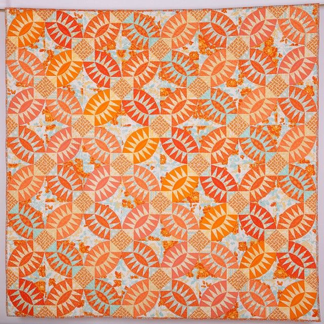 This is the pickle dish quilt I designed and made called Pickled Orange Peel. Will have to release this as a pattern, it was done for a magazine and then I forgot all about it! by scrapbag, via Flickr