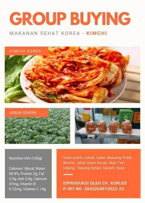 Group Buying - Membuka Penerimaan Pesanan Kimchi KCC Sejong